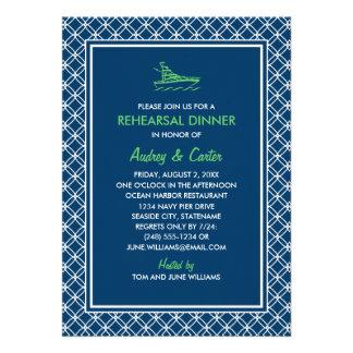 Rehearsal Dinner Invitation Navy Nautical Theme