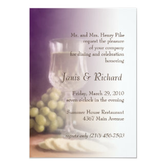 Rehearsal Dinner Invitation Wine Cheese Grapes