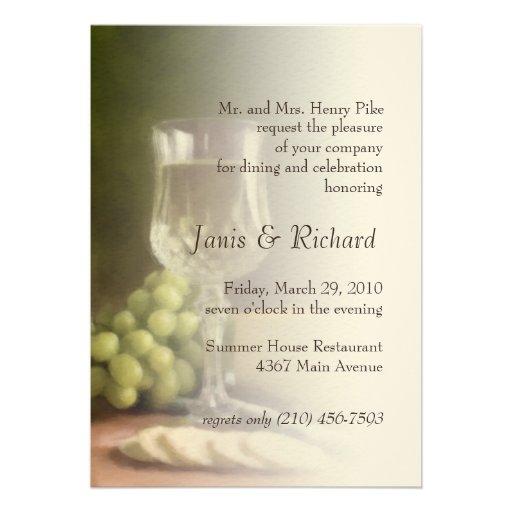 Wedding Invitation Embossed for luxury invitation example