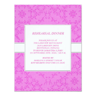 """Rehearsal Dinner Invitations 4.25"""" X 5.5"""" Invitation Card"""