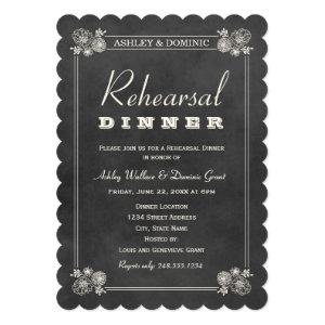 Rehearsal Dinner Invitations | Black Chalkboard 5