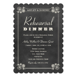 Rehearsal Dinner Invitations | Black Chalkboard