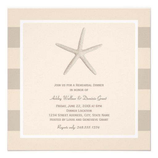 Rehearsal Dinner Invitations | Neutral Starfish