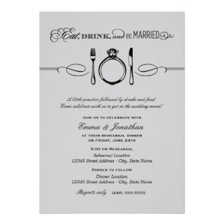 Rehearsal Dinner Invite   Eat Drink and be Married