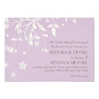 Rehearsal Dinner - Modern Floral Swirl Flourish Personalized Invitation