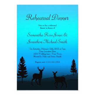 Rehearsal Dinner Nature Mountain Dusk Blue Card