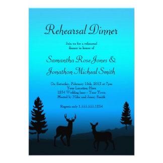 Rehearsal Dinner Nature Mountain Dusk Blue Invite
