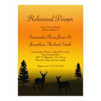 Rehearsal Dinner Nature Mountain Sunset Orange Card