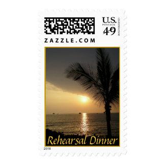 Rehearsal Dinner Ocean Views Postage Stamp