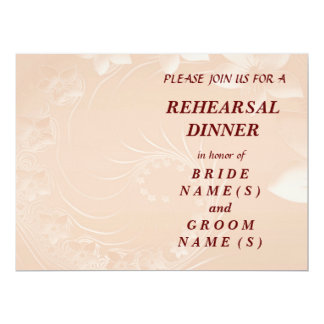 Rehearsal Dinner - Pastel Brown Abstract Flowers Card