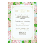 Rehearsal Dinner - Pink Hydrangea Lace Floral 5x7 Paper Invitation Card