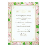 Rehearsal Dinner - Pink Hydrangea Lace Floral Personalized Invitations