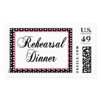Rehearsal Dinner postage stamps
