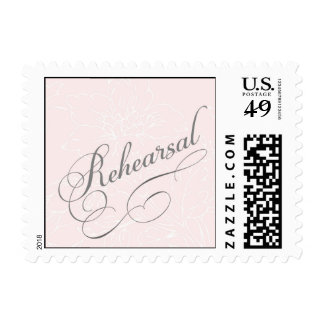 Rehearsal Dinner Stamp with flowers
