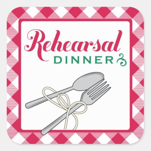 Rehearsal Dinner Stickers   Italian Design Theme