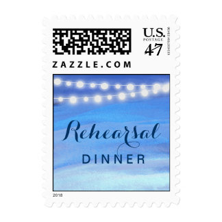 Rehearsal Dinner String lights on the water Postage