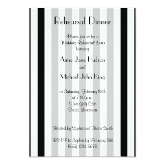 Rehearsal Dinner - Stripes, Lines - White Black Cards