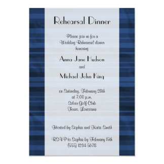 Rehearsal Dinner - Stripes (Parallel Lines) - Blue Card
