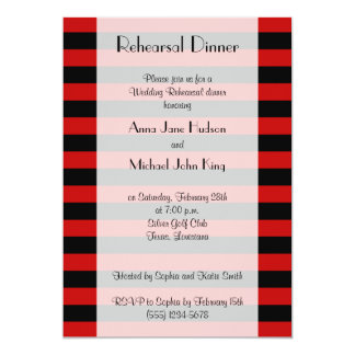 Rehearsal Dinner - Stripes (Parallel Lines) - Red Card