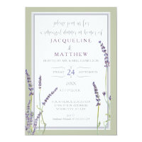 Rehearsal Dinner Watercolor Lavender Floral Script Card