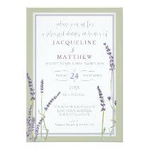 Rehearsal Dinner Watercolor Lavender Floral Script Card
