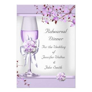 Rehearsal Dinner Wedding Lavender Purple Lilac  4 Custom Invitations