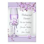 Rehearsal Dinner Wedding Lavender Purple Lilac  4 3.5x5 Paper Invitation Card