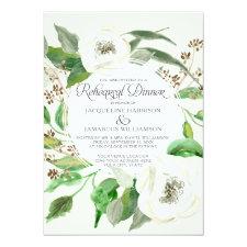 Rehearsal Dinnwe BOHO Eucalyptus Seed Wreath Leaf Invitation