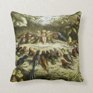 """Rehearsal in Fairyland"" by Richard Doyle - Pillow"