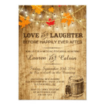 Rehearsal invitation for a country wedding in Fall