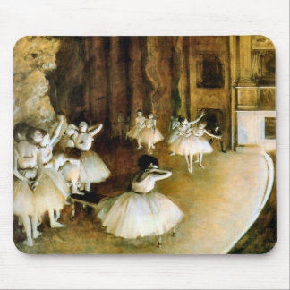 Rehearsal of a Ballet on Stage - Degas Mouse Pad