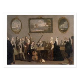 Rehearsal of an Opera c 1709 oil on canvas Postcard