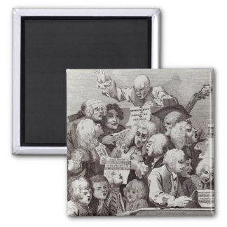 Rehearsal of the Oratorio of Judith, 1734 2 Inch Square Magnet