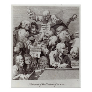 Rehearsal of the Oratorio of Judith, 1734 Poster