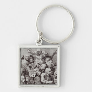 Rehearsal of the Oratorio of Judith, 1734 Silver-Colored Square Keychain