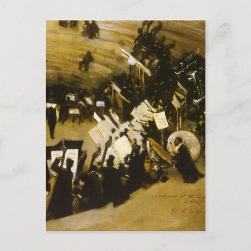 Rehearsal of the Pasdeloup Orchestra by JS Sargent Postcard