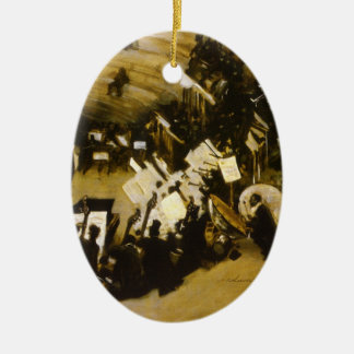 Rehearsal of the Pasdeloup Orchestra by Sargent Ceramic Ornament