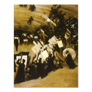 Rehearsal of the Pasdeloup Orchestra by Sargent 4.25x5.5 Paper Invitation Card