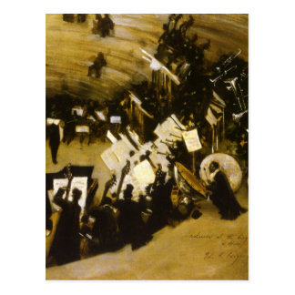 Rehearsal of the Pasdeloup Orchestra by Sargent Postcard