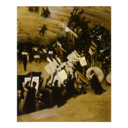 Rehearsal of the Pasdeloup Orchestra by Sargent Poster