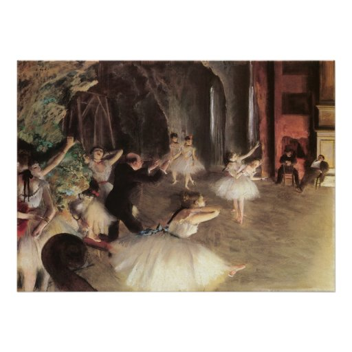 Rehearsal on the Stage by Degas, Vintage Ballet Print