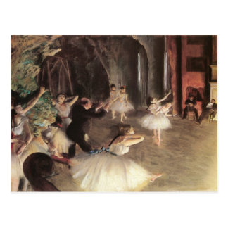 Rehearsal on the Stage by Edgar Degas Postcard
