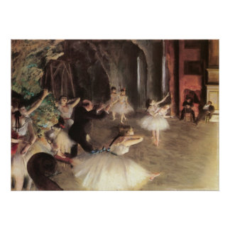 Rehearsal on the Stage by Edgar Degas Poster