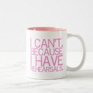 Rehearsals 2-Sided Mug (pink)