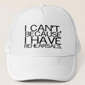 Rehearsals (black) Hat