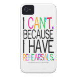 Rehearsals iPhone 4/4S Case iPhone 4 Case-Mate Cases