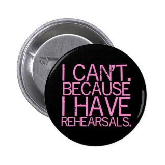 Rehearsals (pink) Button