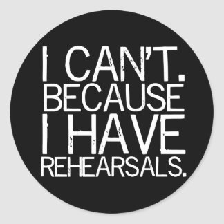 Rehearsals Stickers (customizable)