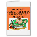 reheat the pasta greeting card