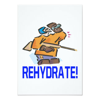 "Rehidrate Invitación 5"" X 7"""